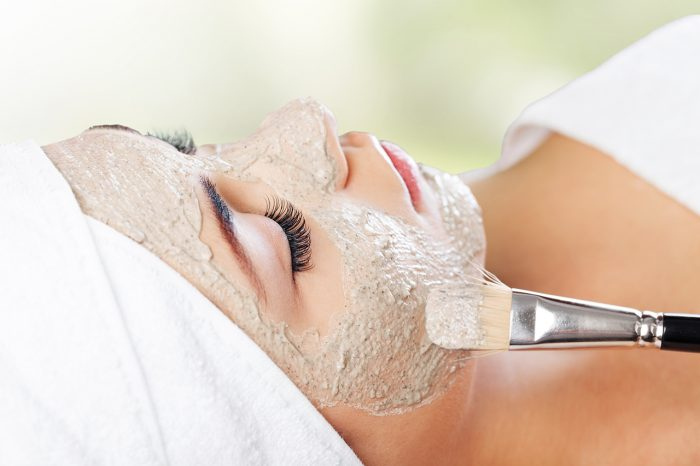 Facial Mask Spa Treatment Mud Health Spa Beauty Treatment Human Face