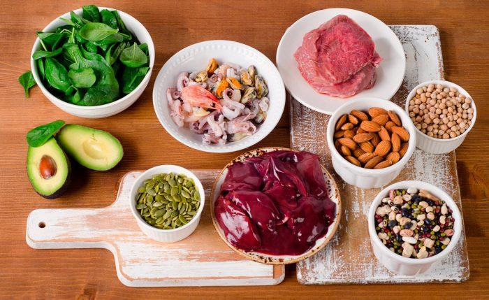 dieta-equilibrada-vegetales-frutas-marisco-vitaminas-zinc