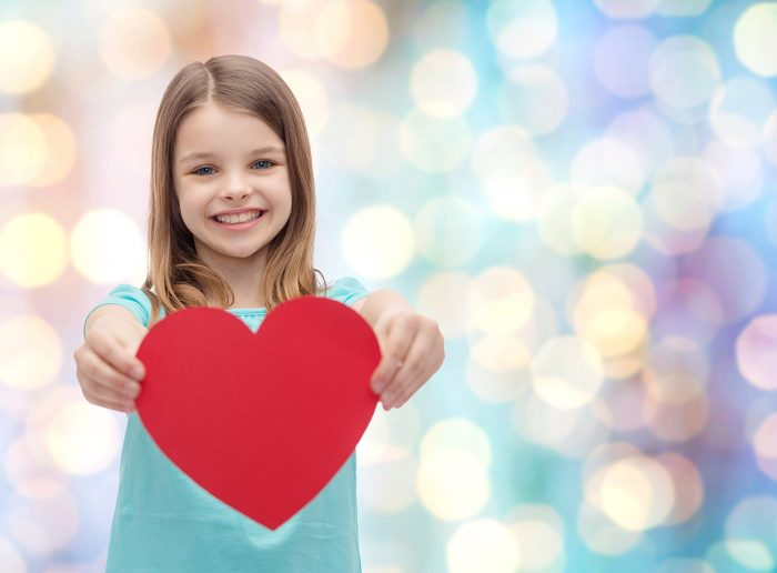 love, happiness, charity, children and people concept - smiling