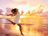 Freedom wellness well-being happiness concept. Happy carefree As