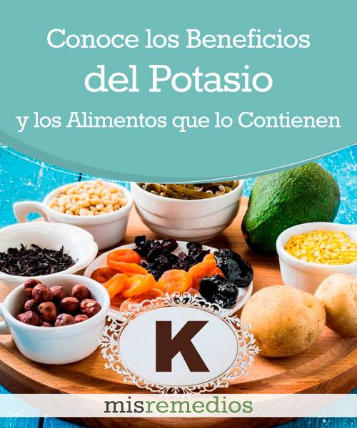 Potasio: Conoce sus Beneficios y los Alimentos que lo Contienen